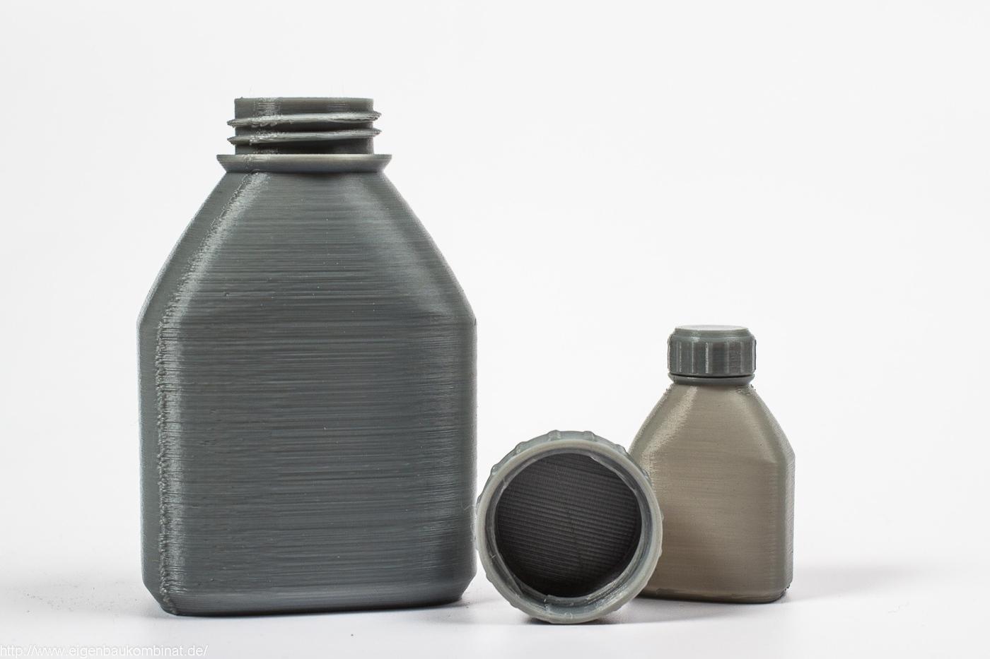 Funktionsfähige Flaschen aus dem 3D-Drucker