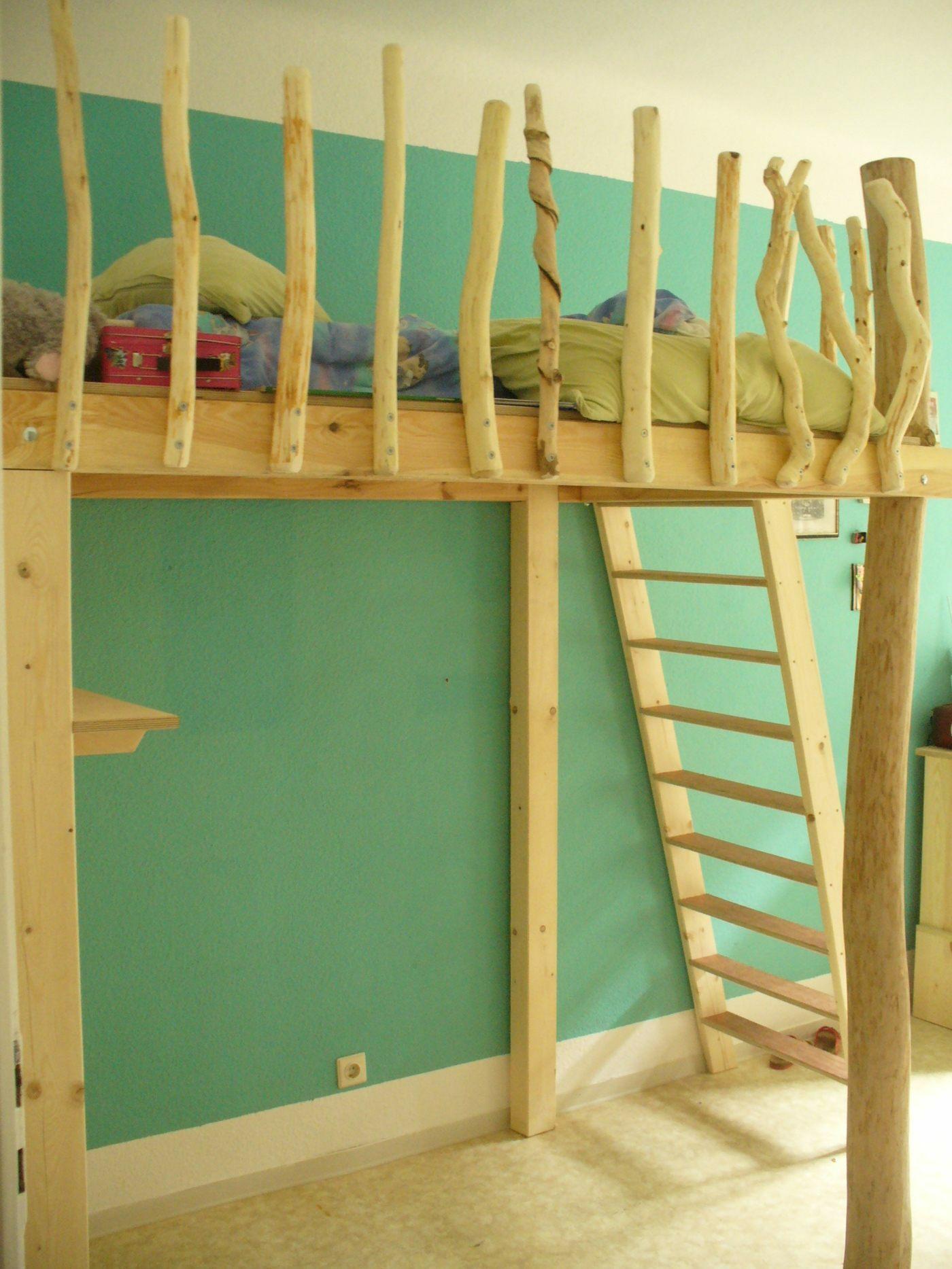 hochbett aus wildholz eigenbaukombinat. Black Bedroom Furniture Sets. Home Design Ideas